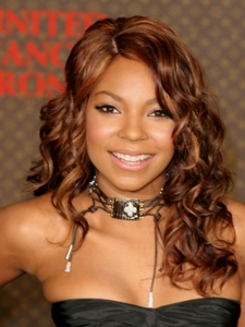 Ashanti with Long Curly Hairstyle