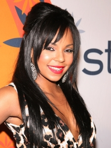 Ashanti Half Updo with Side Bangs