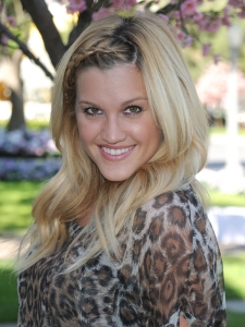 Ashley Roberts Front Fishtail Braid Hairstyle