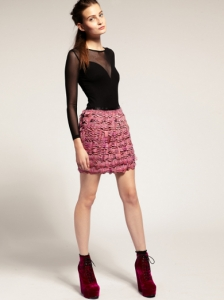 ASOS Revive Mini Skirt In Feathers