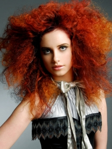 Voluminous Long Red Hairstyle