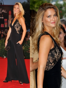 Bar Refaeli in Sexy Black Jumpsuit