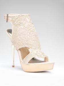 Bebe Harriett Crochet Sandal