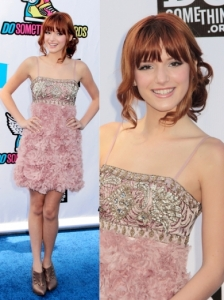 Bella Thorne in Sue Wong