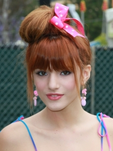 Bella Thorne Top Knot Updo
