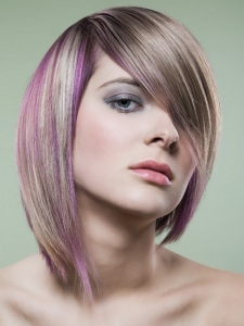 Purple Hair Highlights