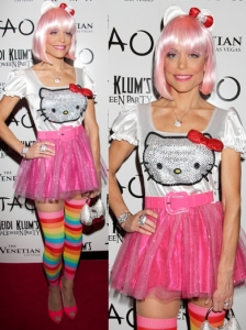 Bethenny Frankel in Hello Kitty Halloween Costume