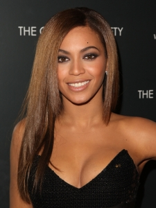 Beyonce's Sleek Layered Hairstyle