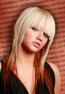 Layered Cut with Full Bangs