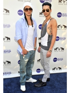 Bill and Tom Kaulitz at 2011 Nivea Party