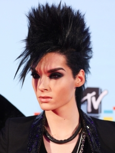 Bill Kaulitz Fohawk Hairstyle at the 2009 MTV EMAs