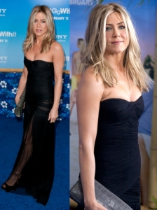 Jennifer Aniston in Dolce & Gabbana Strapless Gown