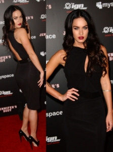 Megan Fox in Giorgio Armani Black Dress