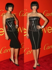 Rihanna in Dolce & Gabbana Corset Dress