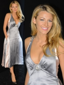 Blake Lively in Chanel Metallic Dress