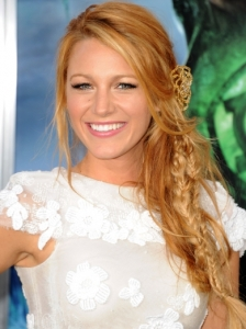 Blake Lively Messy Braids Hairstyle