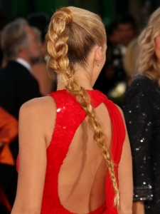 Blake Lively Braided Ponytail Back View