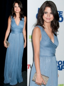 Selena Gomez in J Mendel Blue Gown