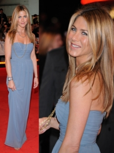 Jennifer Aniston in Burberry Grey Dress
