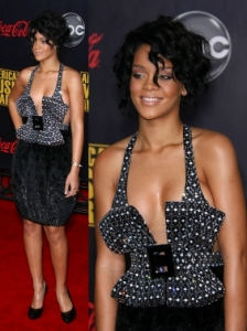 Rihanna in Armani Prive Dress