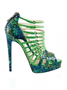Brian Atwood Python Sandals