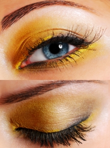 Bright Yellow Eye Makeup Look