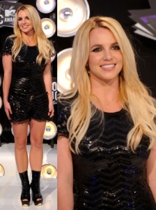 Britney Spears in Sequin Jumper
