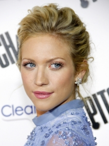 Brittany Snow Textured Updo Hairstyle