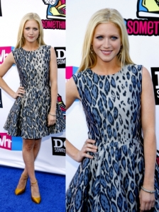 Brittany Snow in Camilla and Marc Atlanta Dress