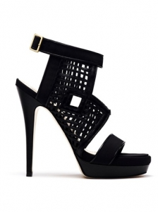 Burak Uyan Black High Heel Sandals