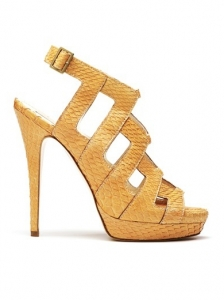 Burak Uyan Yellow Snakeskin Sandals
