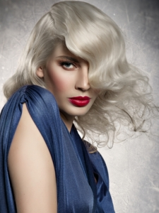 Long Platinum Blonde Hair Style