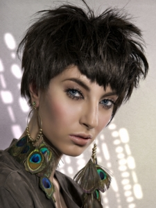 Voguish Layered Short Haircut