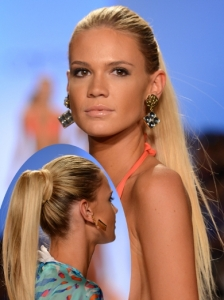 Glam High Ponytails at Caffee Swimwear