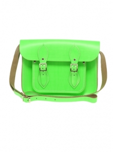 Fluro Green Cambridge Satchel Bag