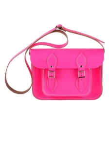 Fluro Pink Cambridge Satchel Bag