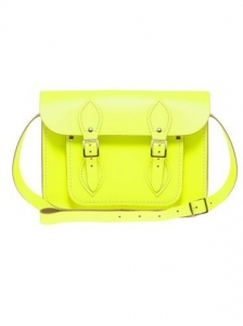 Fluro Yellow Cambridge Satchel Bag