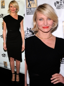 Cameron Diaz in Rachel Roy Black Dress