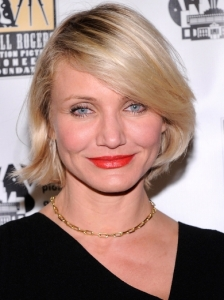 Cameron Diaz Side-Swept Bob Hairstyle