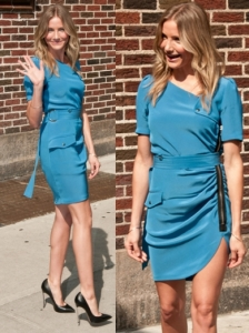 Cameron Diaz in Blue Dress on Letterman Show
