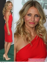 Cameron Diaz in Red Azzaro Dress