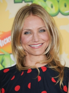 Cameron Diaz with Blonde Layered Hairstyle