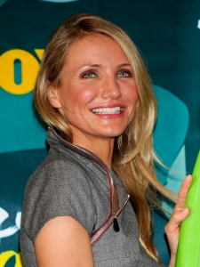 Cameron Diaz Side Swept Hairstyle