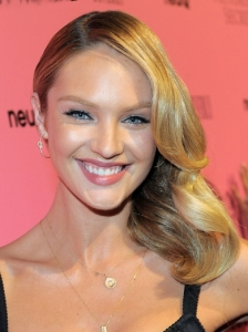 Candice Swanepoel Side-Swept Waves