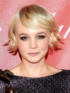 Carey Mulligan Platinum Bob Hairstyle