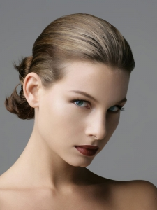 Super-Polished Updo Hairstyle