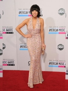 Carly Rae Jepsen in Gomez Gracia at the 2012 AMAs
