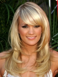 Carrie Underwood Layered Hairstyle with Bangs
