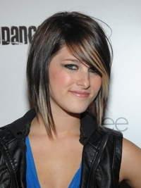 Cassadee Pope Layered Hairstyle with Highlights