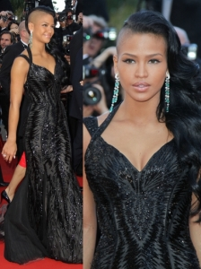 Cassie in Roberto Cavalli Black Gown